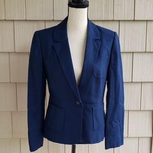 Vtg Pendleton virgin wool blue classic blazer 12